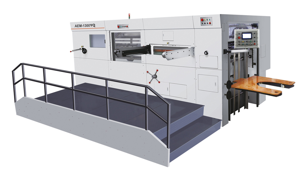 AEM-1300YQ hand feed flat bed corrugated box die cutting machine
